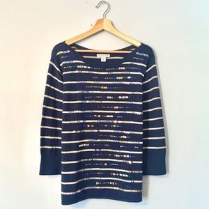 Coldwater Creek Sequined Embellished Sweater XL